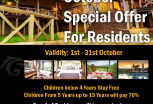 OCT SPECIAL OFFER FOR RESIDENTS – ESCARPMENT LUXURY LODGE