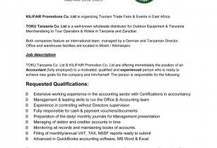 Job Vacancy for trustful, experienced and motivated