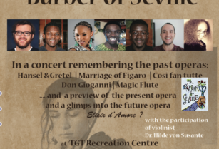 THIS SATURDAY ! OPERA CONCERT AND COCKTAIL/DINER AT TGT – PLACES LIMITED