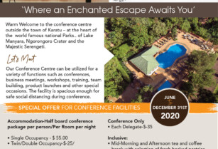 KUDU LODGE – SPECIAL OFFER FOR CONFERENCE FACILITIES FROM – JUNE, 2020 TO 31ST DECEMBER, 2020