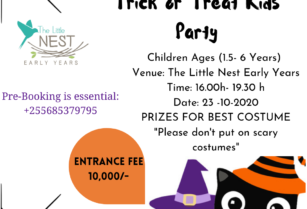 JOIN US FOR KIDS TRICK AND TREAT PARY FRIDAY 23rd OCTOBER 2020