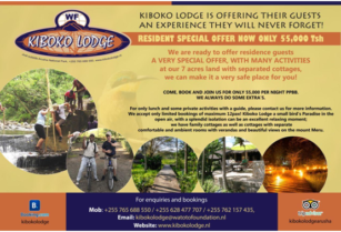 """""""GATEAWAY OFFER"""" AT KIBOKO LODGE, BOOK NOW WITH FREE CANCELLATION!"""