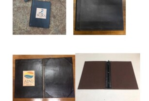 Leather Menu and Room Information Folders