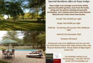 Special resident offer at NSYA LODGE & CAMP