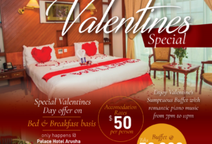 Love comes in Double Portion at PALACE HOTEL ARUSHA