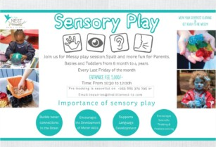 SENSORY PLAY FOR BABIES & TODDLERS EVERY LAST FRIDAY END OF MONTH !