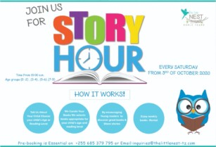 JOIN US FOR STORY HOUR / BOOK CLUB FOR KIDS EVERY SATURDAY!