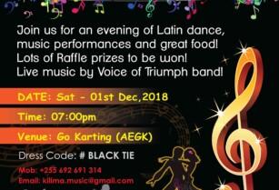 KILIMA MUSIC ACADEMY AWARDS & LATIN DANCE NIGHT EXTRAVAGANZA
