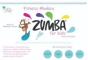 JOIN US FOR KIDS ZUMBA SESSION :AGES (2-3) (4-6) (7-9)