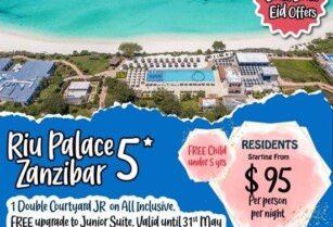 RIU PALACE ZANZIBAR (OPTION 1) – BOOM BOOM EID OFFERS BY BLUE LOTUS TRAVEL & TOURS
