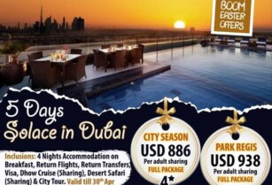 BOOM BOOM EASTER OFFERS – OPTION TWO – 5 DAYS SOLACE IN DUBAI (BLUE LOTUS TRAVEL & TOURS)