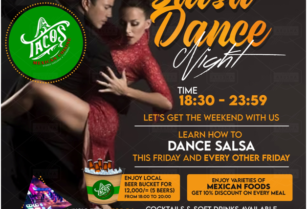 SALSA DANCE Place your Friday something different at the right place in the evening to night with us let's party together at Mexican Cuisine Arusha near shoppers supermarket