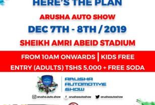 NEXT WEEKEND – ARUSHA AUTO SHOW 2019 – SHEIKH AMRI ABEID STADIUM