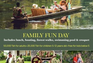 Family FUN day EVERY DAY at @NgareSeroLodge (lunch, boating, swimming pool, forest walks & croquet): 50,000Tsh / 25,000Tsh for adults / kids & free for kids below 5.