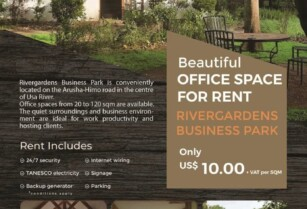 BEAUTIFUL OFFICE SPACE FOR RENT IN RIVERGARDENS BUSINESS PARK – USA RIVER