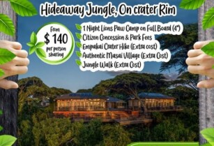 HIDEAWAY JUNGLE, ON CRATER RIM ~ LOCATION SIXTEEN | HIDEAWAYS IN TANZANIA (BLUE LOTUS TRAVEL & TOURS)