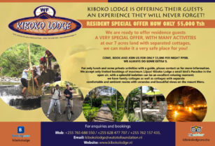 "KIBOKO LODGE ""A BIRD'S PARADISE"" JUST OUTSIDE ARUSHA NATIONAL PARK!"