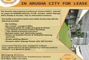 AVAILABLE AICC KIJENGE SOCIAL CLUB IN ARUSHA CITY FOR LEASE