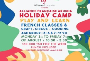***HOLIDAY CAMP THIS AUGUST @ALLIANCE FRANCAISE ARUSHA ***
