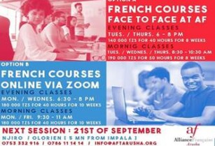 ***FRENCH CLASSES @ALLIANCE FRANCAISE ARUSHA***