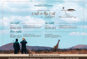 NDARAKWAI – ENJOY OPEN WILD SPACES WITH OUR SPECIAL CITIZEN AND RESIDENT OFFER