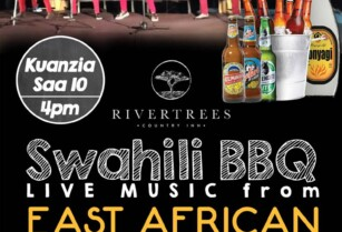 RIVERTREES SWAHILI BBQ & LIVE MUSIC FROM EAST AFRICAN NGWASUMA BAND – SATURDAY 14TH NOVEMBER 2020 FROM 4PM