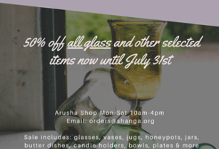 SHANGA SALE! 50% OFF ALL GLASSWARE