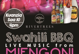 RIVERTREES SWAHILI BBQ – LIVE MUSIC FROM MJENGONI CLASSIC BAND – 10TH OCTOBER 2020 FROM 4PM