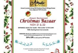 Amani Restaurant Christmas Bazaar