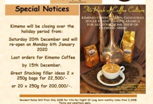 Kimemo Closed For The Holiday Season