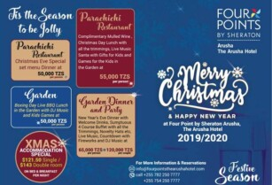 CELEBRATE XMASS AND NEW YEAR EXCLUSIVE DAYS AT FOUR POINTS BY SHERATON ARUSHA HOTEL
