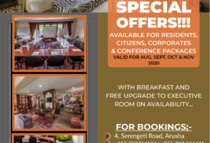 SPECIAL OFFERS AVAILABLE FOR CORPORATES , RESIDENTS, CITIZENS & CONFERENCE PACKAGES AT AFRICAN TULIP HOTEL – ARUSHA …