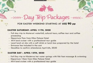 EASTER DAY TRIP PACKAGES WITH KIBO PALACE HOTEL