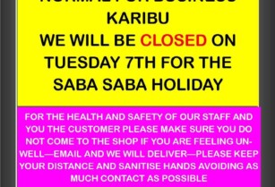 MEAT KING SHOP WILL BE CLOSED ON TUESDAY 7TH – SABA SABA HOLIDAY
