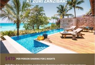 A TROPICAL GETAWAY AT ZURI ZANZIBAR!