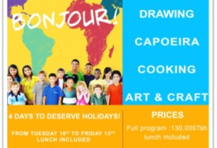 Holiday camps available at Alliance Francaise of Arusha!