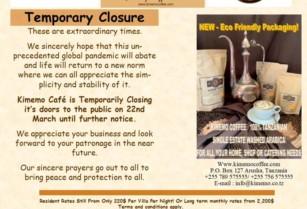 Kimemo Cafe Temporary Closure