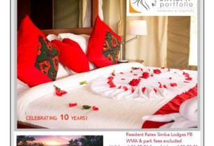 Celebrate love and valentine's day all month long in Romantic and magical settings at Simba Portfolio Lodges