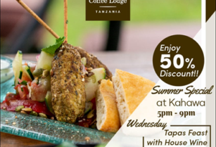 50%DISCOUNT SUMMER SPECIAL AT ARUSHA COFFEE LODGE