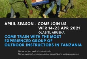 WILDERNESS FIRST RESPONDER Training APRIL 2021